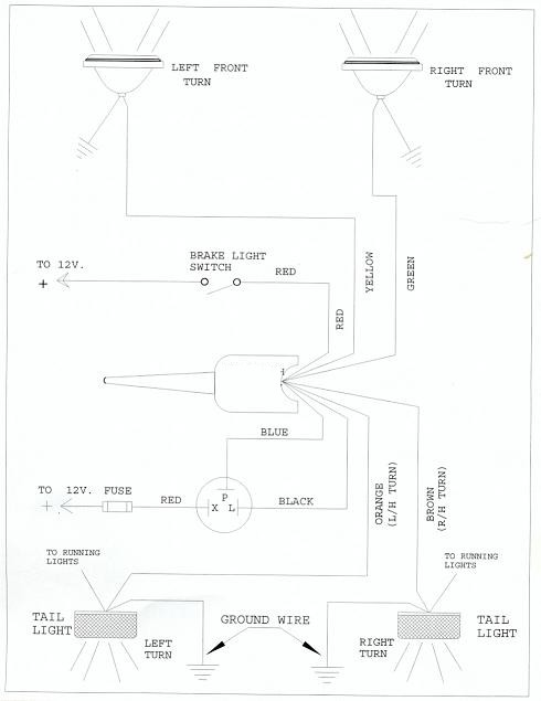 flasherdiagram 7 wire turn signal flasher question turn signal kit wiring diagram at virtualis.co